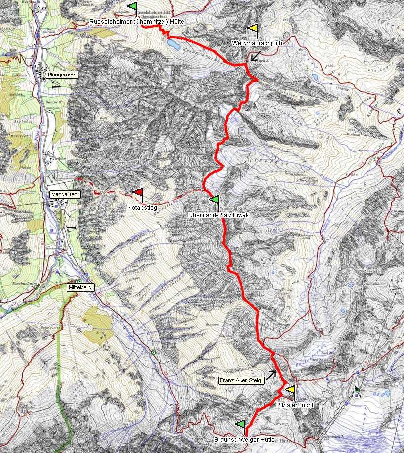 Pitztal Karte.Dav Sektion Mainz Mainzer Höhenweg